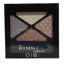 Fard pleoape pudra Rimmel Londra Glam' Eyes Quad - No. 018 - Romantic Cool