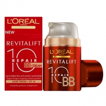 Crema antirid cu fond de ten L'Oreal Paris Revitalift Dermo Expertize 10 Repair BB – Light