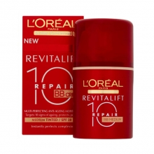 Crema antirid cu fond de ten L'Oreal Paris Revitalift Dermo Expertize 10 Repair BB – Medium