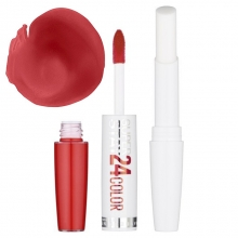 Ruj Maybelline rezistent 24h Superstay Dual Ended Lipstick No.205 - Steady Red