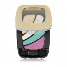 Trusa farduri pleoape L'Oreal Paris Colour Riche Shadow Quad - No.313 - Neon Skirt  - 50% REDUCERE