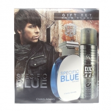 Cutie cadou parfum Specific Blue pt.EL100ml + DX77 - Body Spray 200ml