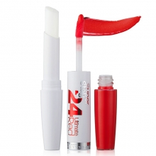 Ruj Maybelline New York rezistenta extrema - 24h Superstay Dual Ended Lipstick + Conditioning balm No.560 - Red Alert