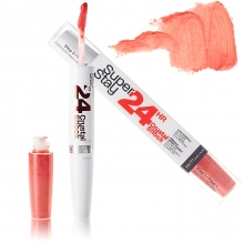 Ruj Maybelline New York rezistenta extrema - 24h Superstay Dual Ended Lipstick + Conditioning balm - No.470 Precious Coral
